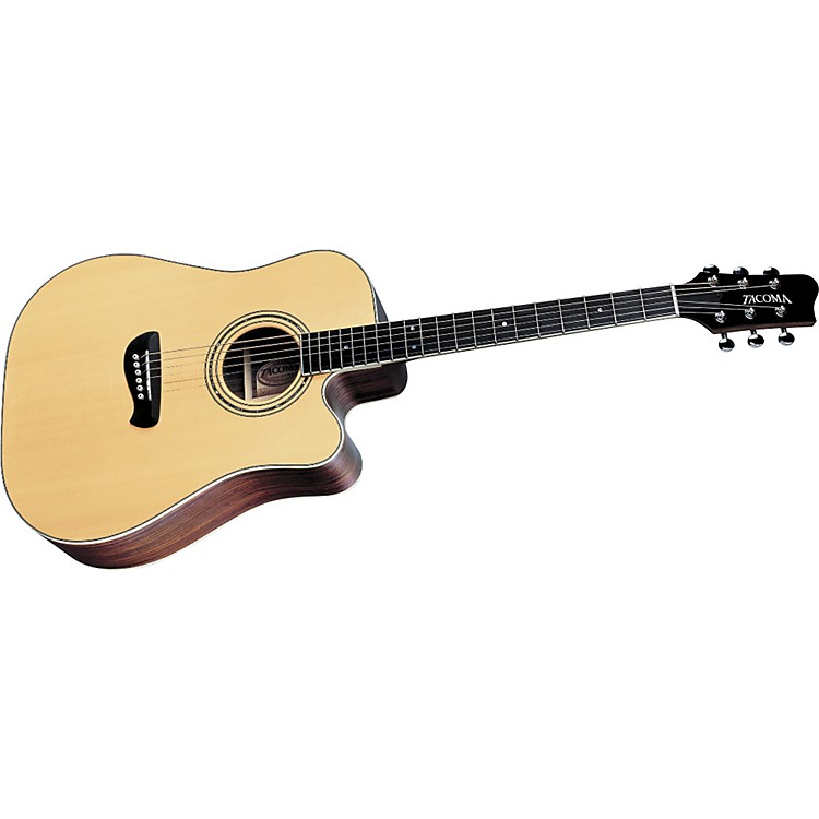 tacoma dr14c dreadnought cutaway acoustic guitar music123
