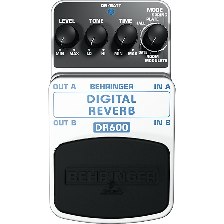 Behringer DR600 Digital Stereo Reverb Guitar Effects Pedal