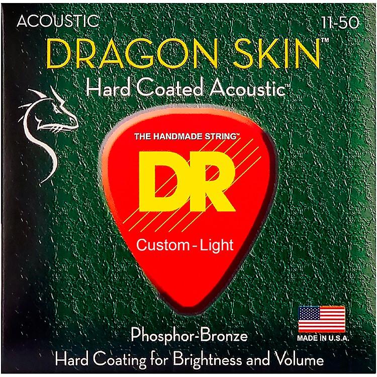 DR StringsDSA-11 Dragon Skin K3 Coated Acoustic Strings Medium-Light