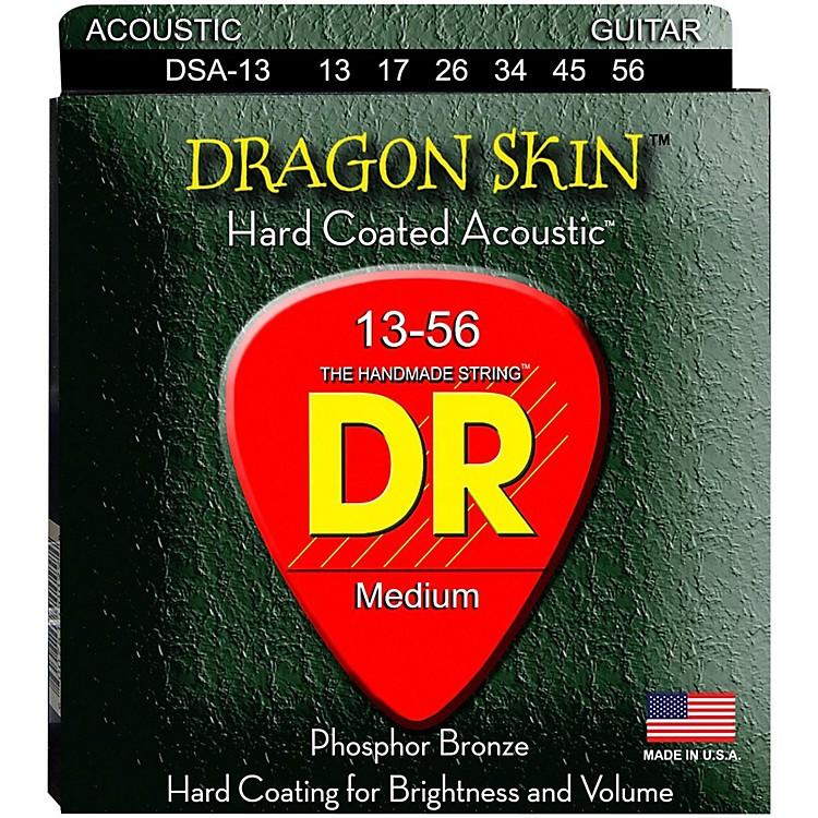 DR StringsDSA-13 Dragonskin K3 Coated Acoustic Strings Heavy