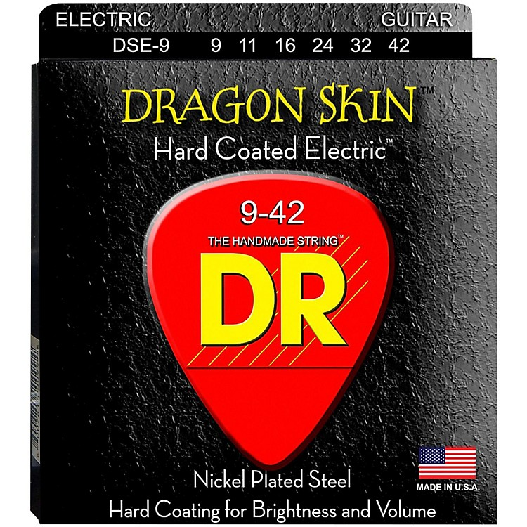 DR Strings DSE-9 Dragon Skin Coated Light Electric Guitar Strings