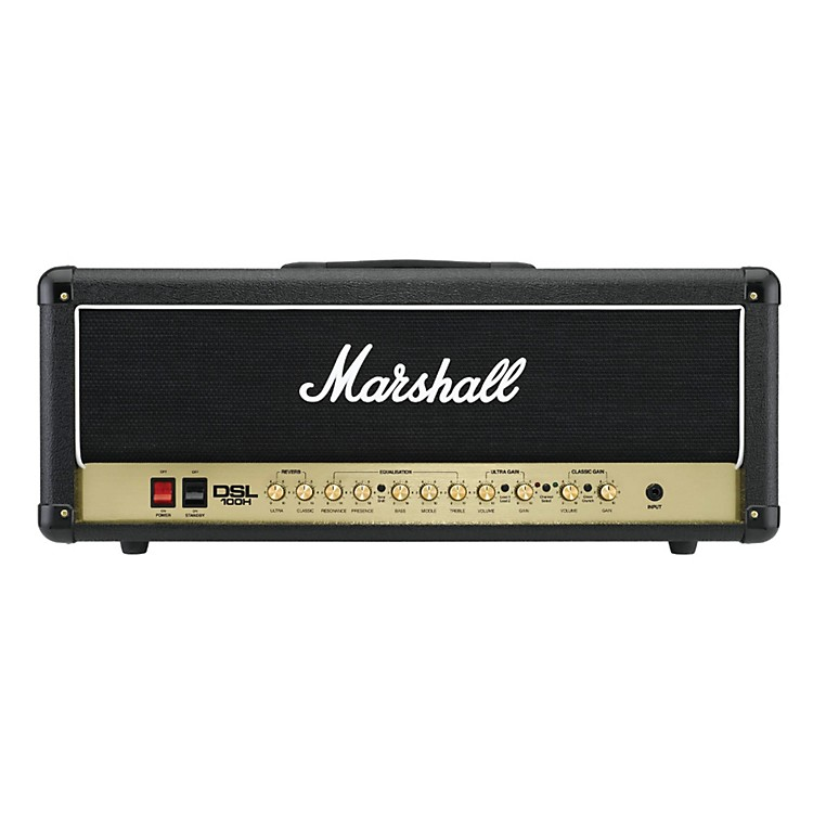 Marshall DSL100H 100W All-Tube Guitar Amp Head Black 888365776989