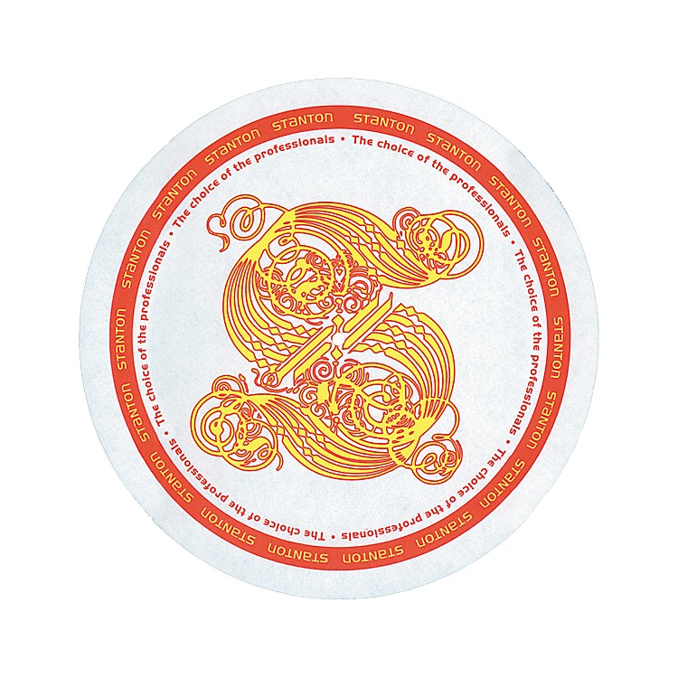 StantonDSM-7 Gold S Logo Slipmats with Scratch Discs
