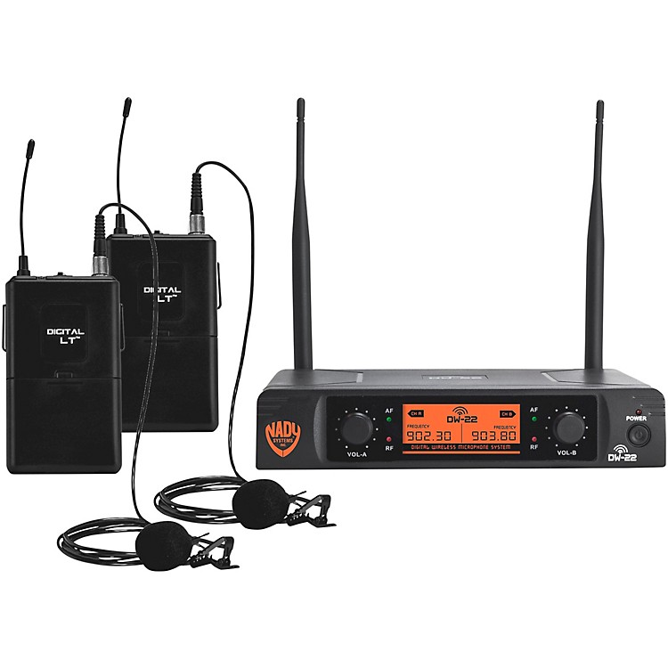 Nady DW-22 LT 24 bit Digital Dual Lapel Wireless Microphone System