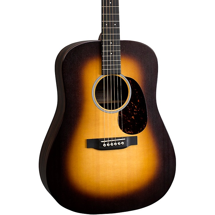 Martin DX1AE Macassar Dreadnought Acoustic-Electric Guitar Sunburst