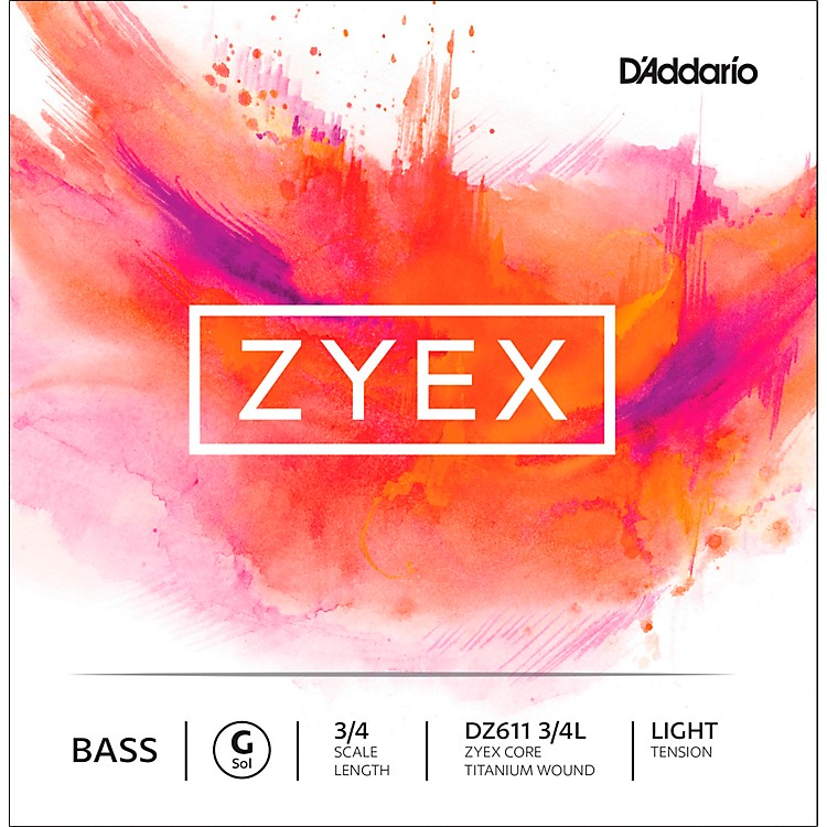D'AddarioDZ611 Zyex 3/4 Bass Single G StringLight