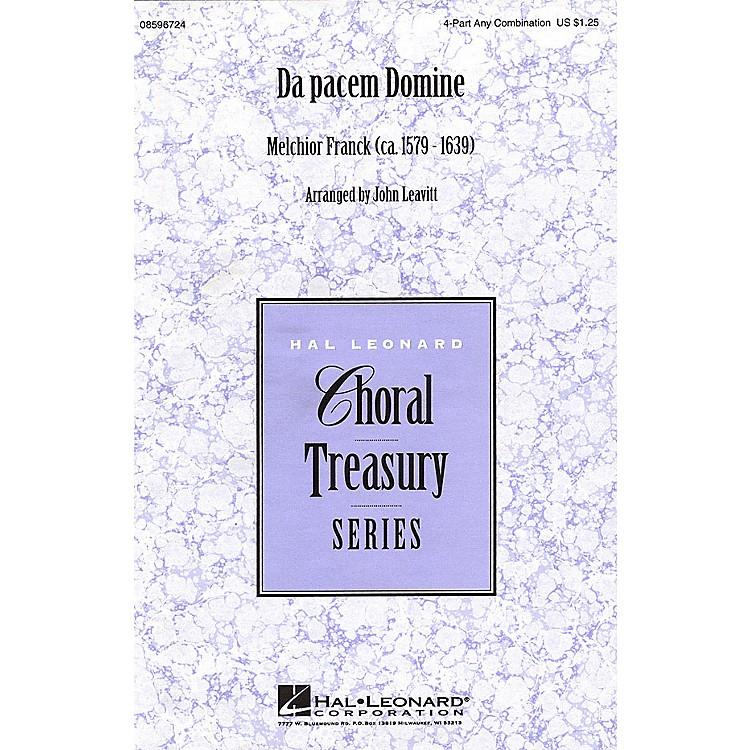Hal LeonardDa pacem Domine 4 Part Any Combination arranged by John Leavitt