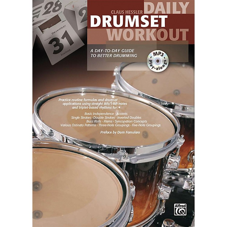 AlfredDaily Drumset Workout Book & MP3 CD