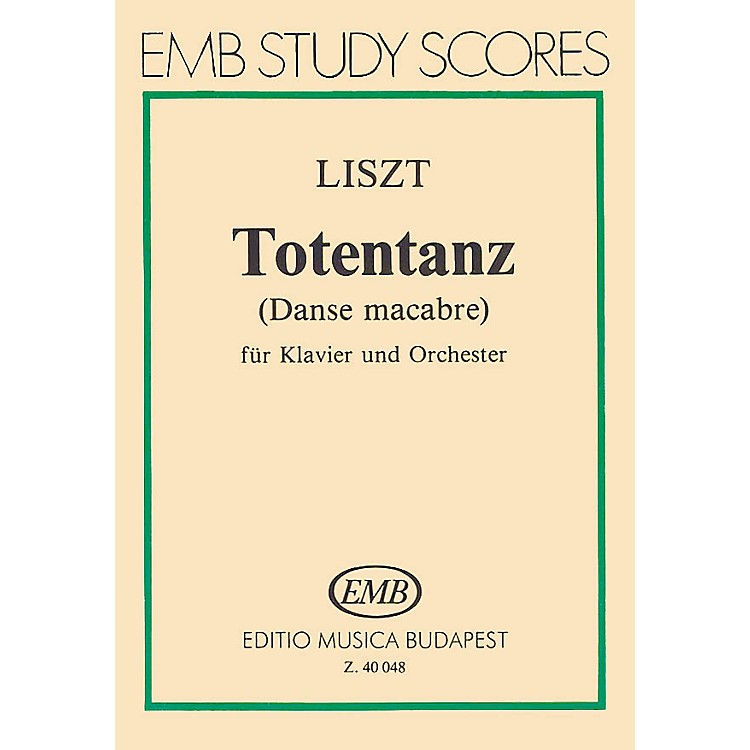 Editio Musica BudapestDance Macabre for Piano and Orchestra (Score) EMB Series by Franz Liszt