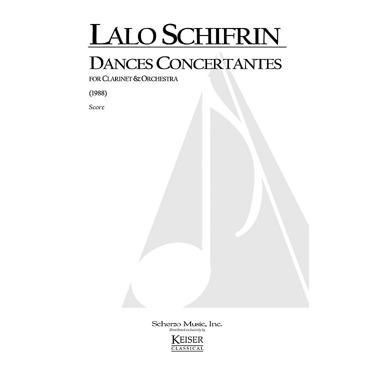 Lauren Keiser Music PublishingDances Concertantes for Clarinet and Orchestra LKM Music Series Composed by Lalo Schifrin