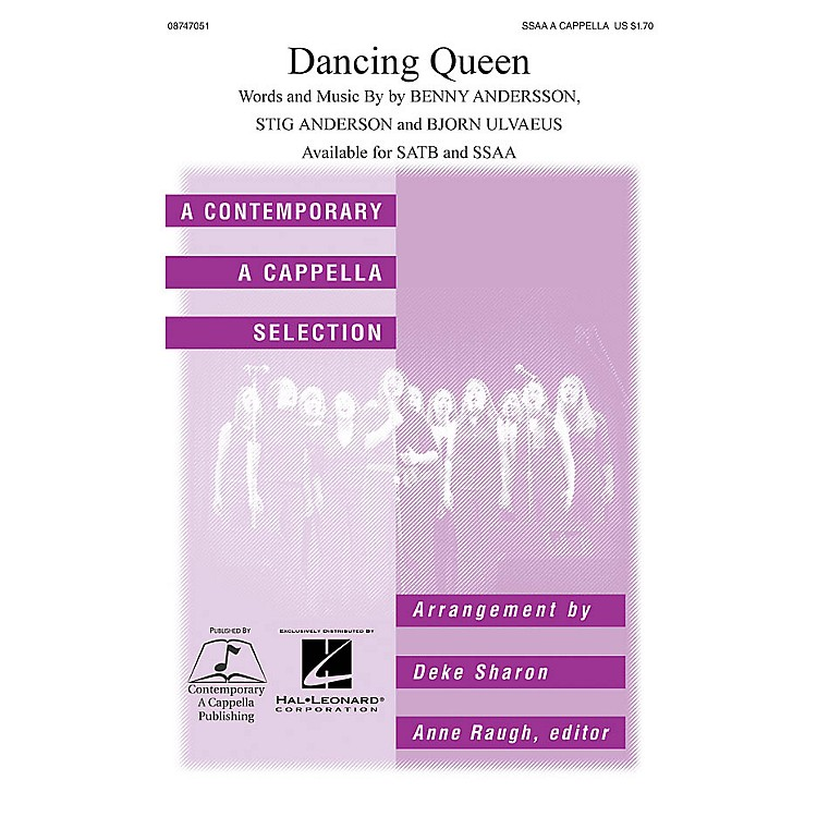 Hal LeonardDancing Queen SSAA A Cappella by ABBA arranged by Deke Sharon