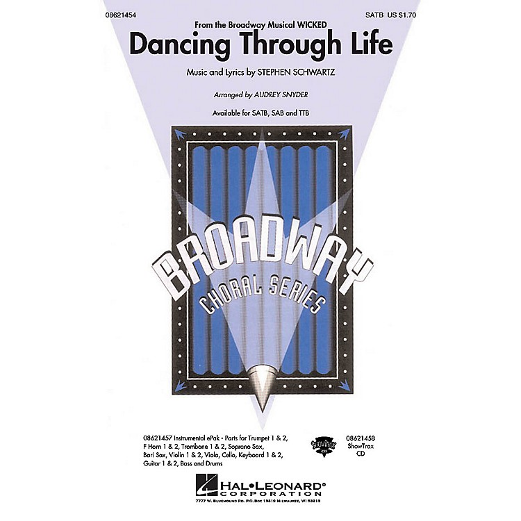 Hal LeonardDancing Through Life ShowTrax CD Arranged by Audrey Snyder
