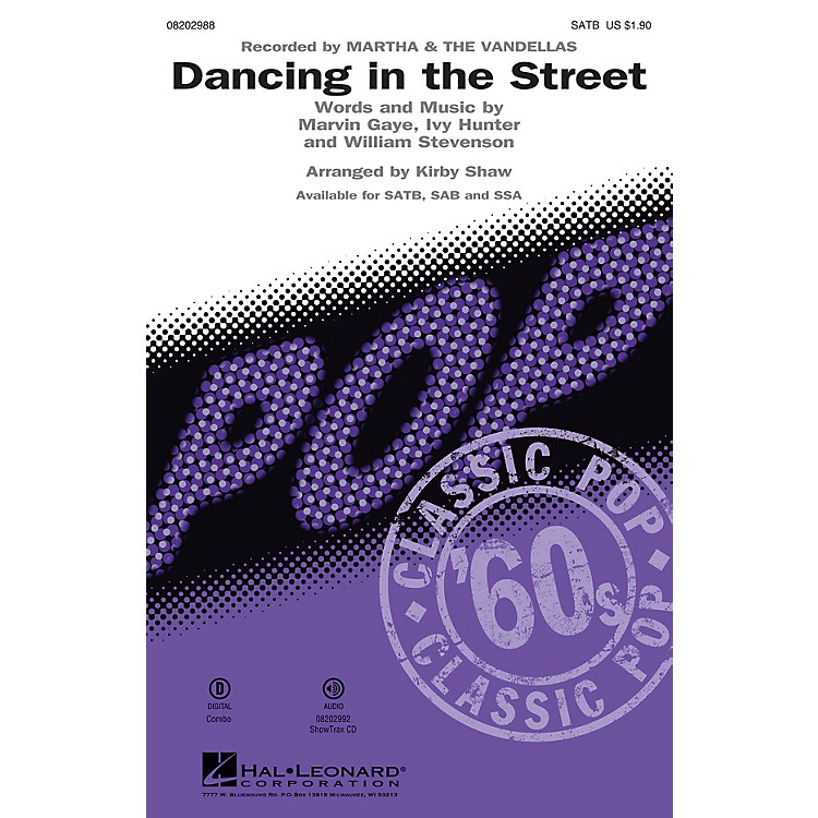 Hal Leonard Dancing in the Street ShowTrax CD by Martha & The Vandellas Arranged by Kirby Shaw