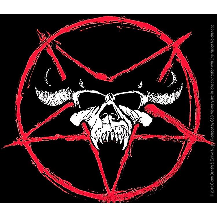 C&D VisionaryDanzig Skull With Pentagram Sticker
