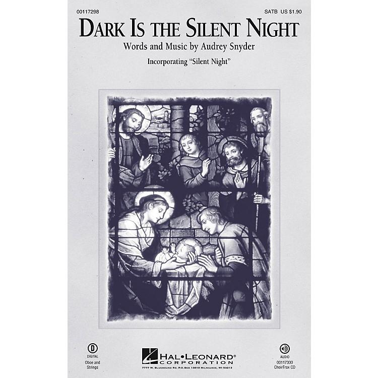 Hal LeonardDark Is the Silent Night SATB arranged by Audrey Snyder