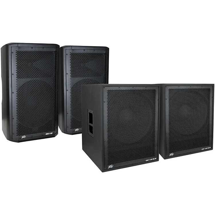 Peavey Dark Matter DM 112 Powered Speaker and DM118 Sub Pair
