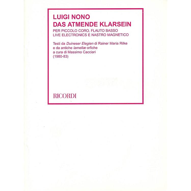 RicordiDas Atmende Klarsein (1980-83) Study Score Series Softcover with DVD Composed by Luigi Nono
