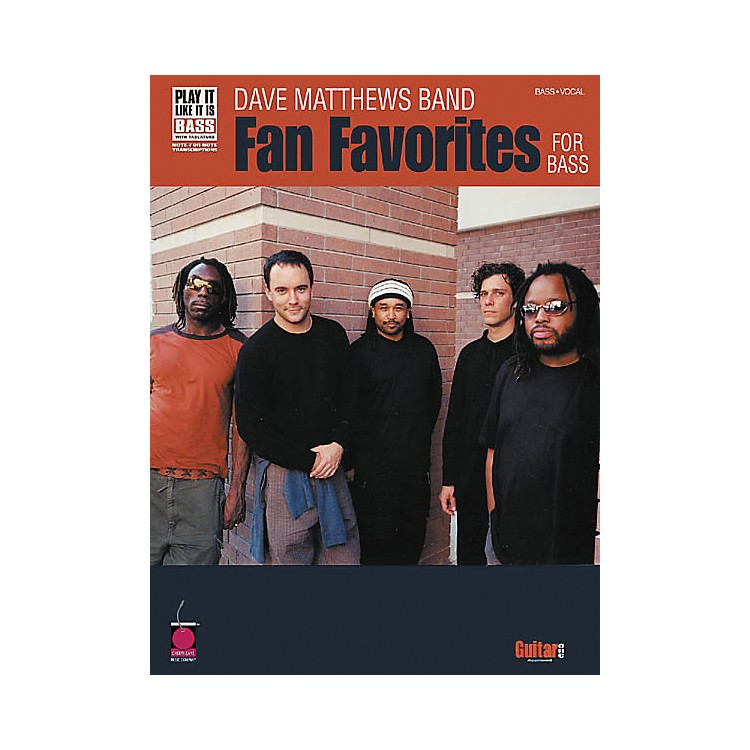 Cherry Lane Dave Matthews Band - Fan Favorites Bass Tab Songbook