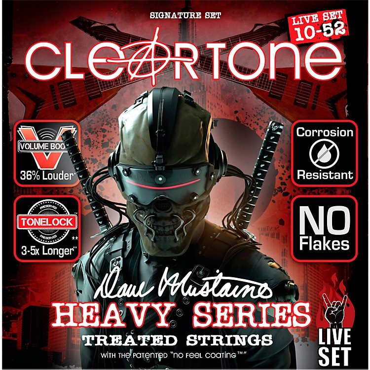 CleartoneDave Mustaine Signature Live Set Electric Guitar Strings (10-52)