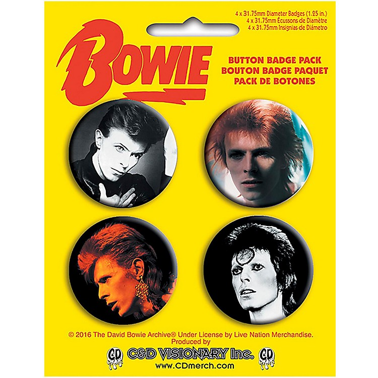C&D Visionary David Bowie Button Set