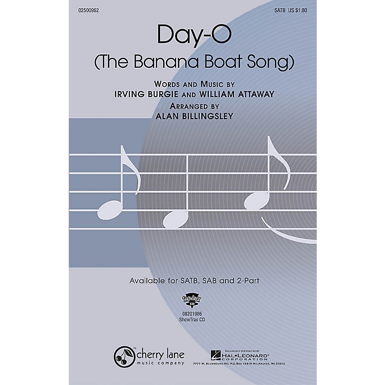 Cherry LaneDay-O (The Banana Boat Song) SATB arranged by Alan Billingsley