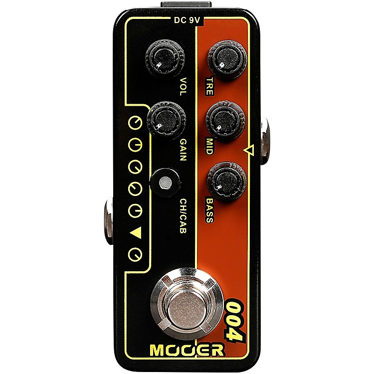 MooerDay Tripper Micro Preamp PedalBlack and Gold
