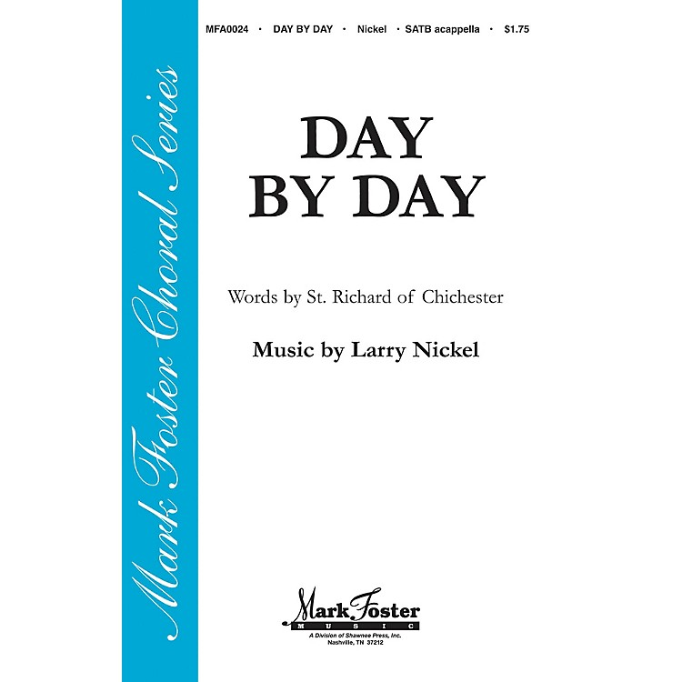 Shawnee PressDay by Day SATB a cappella composed by St. Richard of Chichester