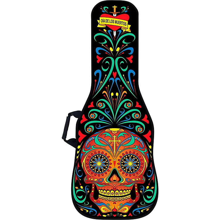 BOLDFACEDay of the Dead Electric Guitar Bag w/ Graphic Face PanelBlack & Red