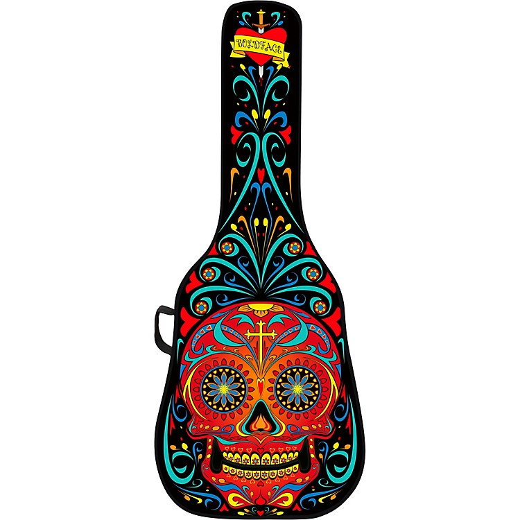 BOLDFACEDay of the Dead Electric Guitar Case w/ Graphic Face PanelBlack & Red