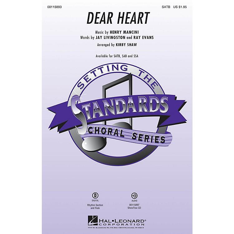 Hal LeonardDear Heart ShowTrax CD by Andy Williams Arranged by Kirby Shaw