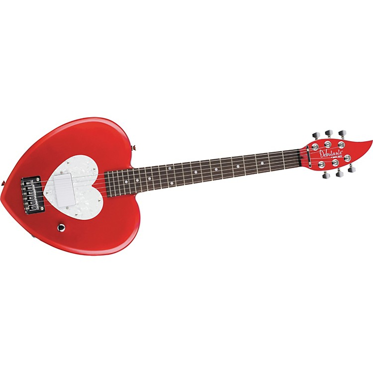 Daisy Rock Debutante Heartbreaker Short Scale Electric Guitar Red Hot Red