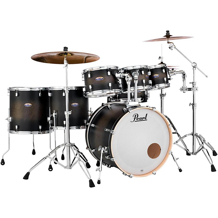 Pearl Decade Maple 7-Piece Shell Pack Satin Black Burst