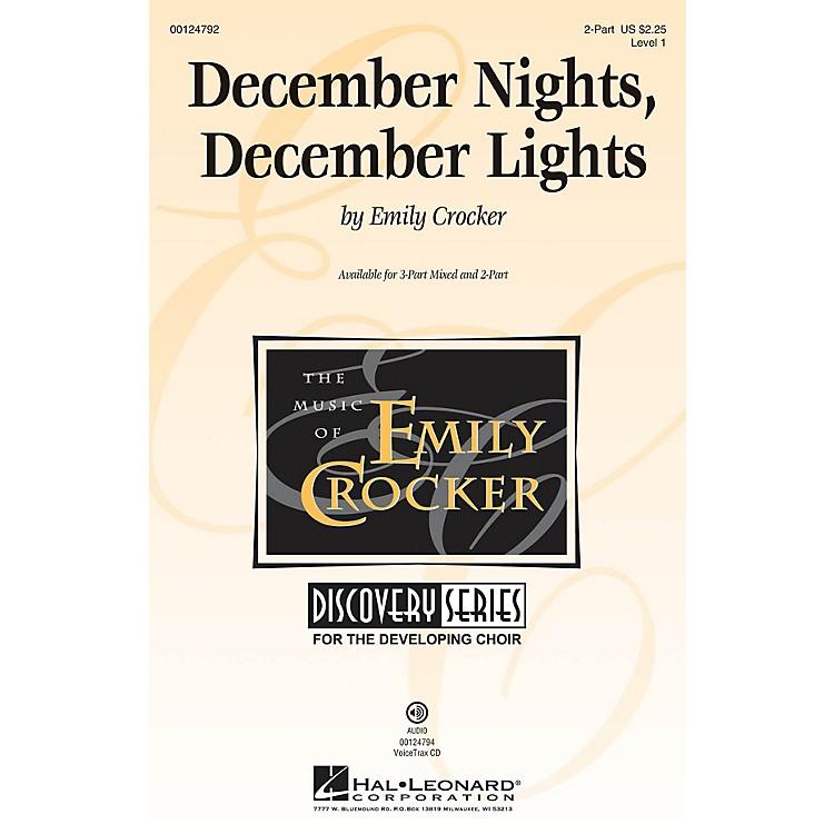 Hal LeonardDecember Nights, December Lights (Discovery Level 1) UNIS/2PT composed by Emily Crocker