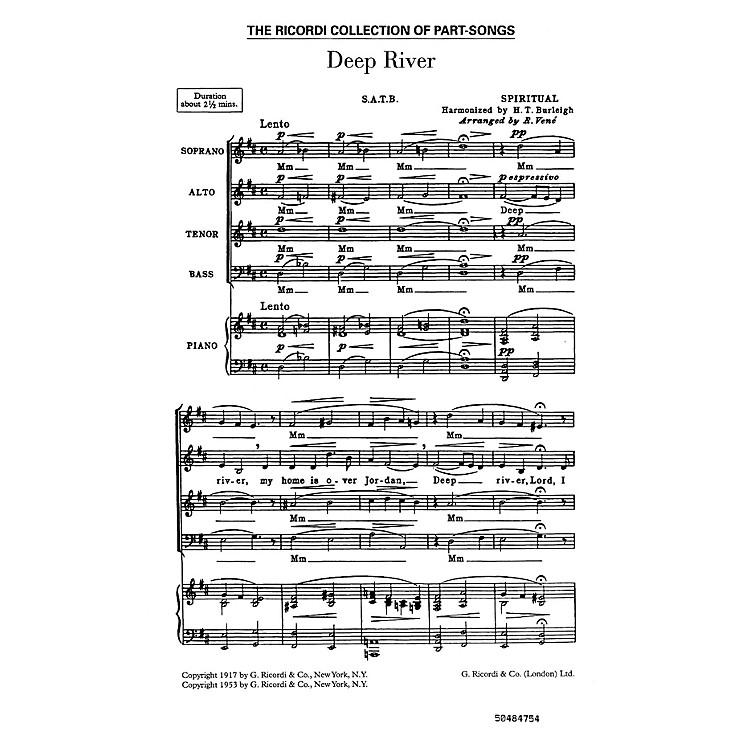 RicordiDeep River (SATB) SATB Composed by Harry T Burleigh