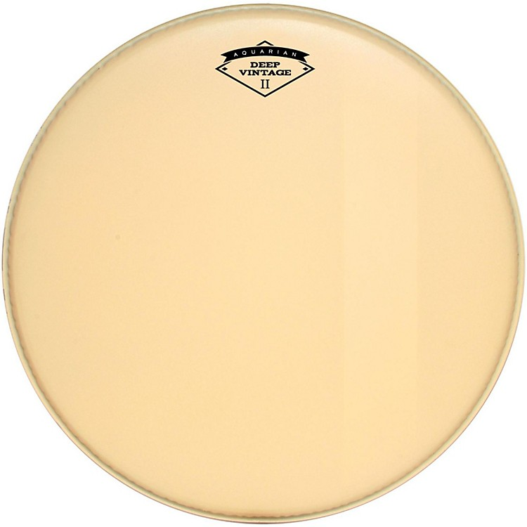 Aquarian Deep Vintage II Bass Drumhead with Felt Strip 22 in.