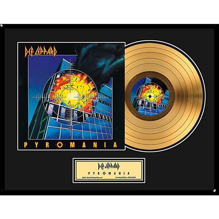 24 Kt. Gold RecordsDef Leppard - Pyromania Gold LP - Limited Edition of 2,500