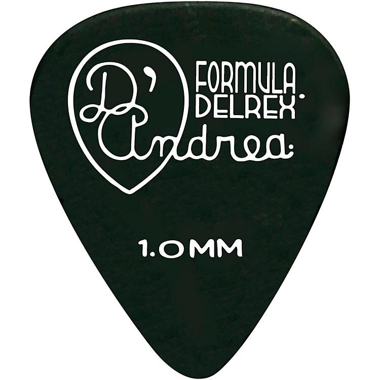 D'AndreaDelrex Delrin Guitar Picks - One DozenBlack1.0 mm