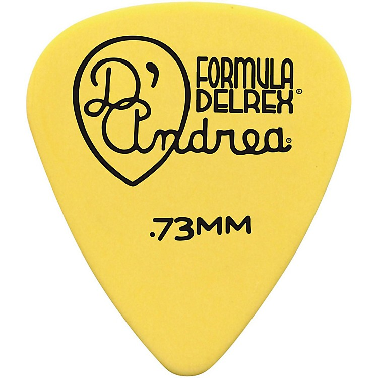 D'Andrea Delrex Delrin Guitar Picks - One Dozen Yellow .73 mm