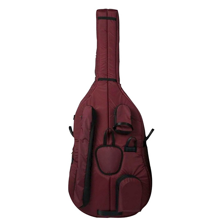 Mooradian Deluxe 7/8 Double Bass Bag Small 7/8 Burgudny
