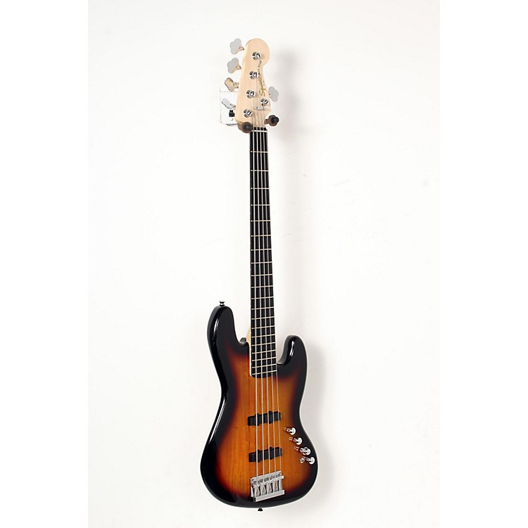 Squier Deluxe Jazz Bass Active V 5-String Electric Bass Guitar 3-Color Sunburst 888365852638