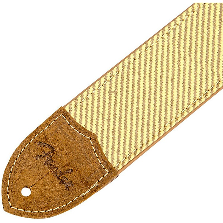 Fender Deluxe Leather Guitar Strap Tweed 2 in.
