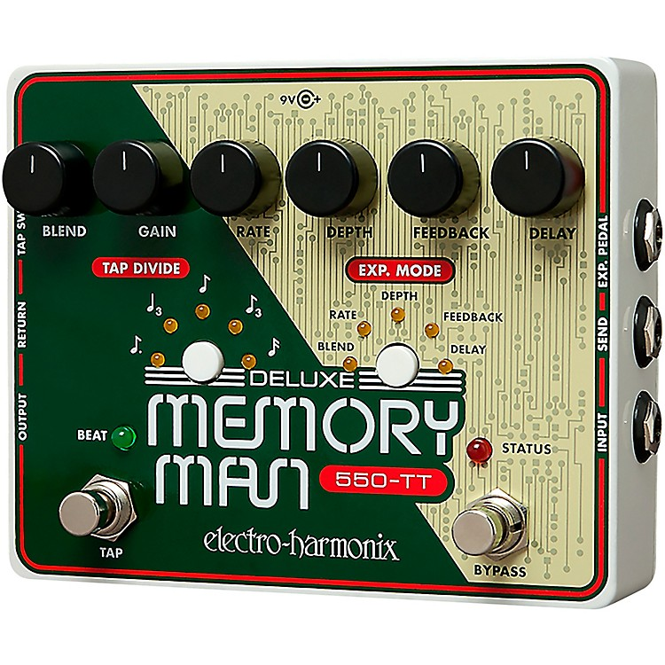 Electro-HarmonixDeluxe Memory Man Tap Tempo 550 Delay Guitar Effects Pedal