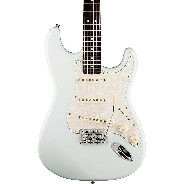 Fender Deluxe Roadhouse Stratocaster Electric Guitar Sonic Blue Rosewood Fretboard