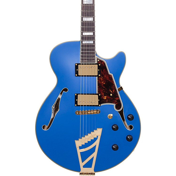 D'AngelicoDeluxe Series Limited Edition EX-SS with Stairstep Tailpiece Hollowbody Electric GuitarRoyal BlueTortoise Pickguard
