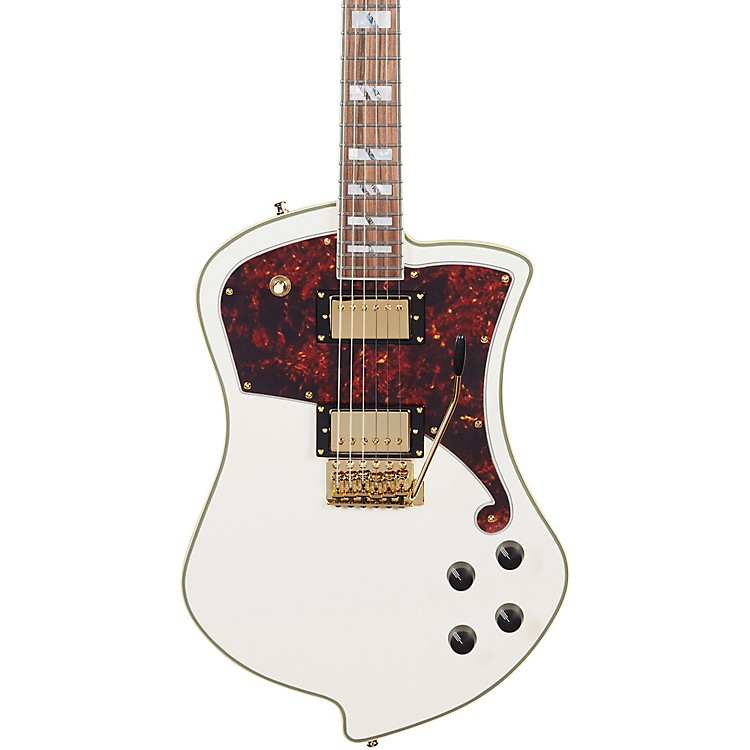 D'Angelico Deluxe Series Ludlow Electric Guitar with Tremolo Tailpiece Vintage White