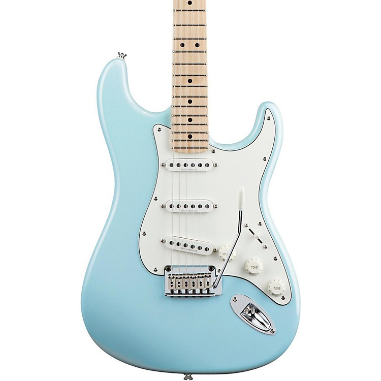 Squier Deluxe Strat Electric Guitar Daphne Blue