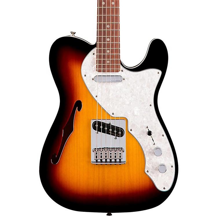 FenderDeluxe Thinline Telecaster Rosewood Fingerboard3-Color Sunburst