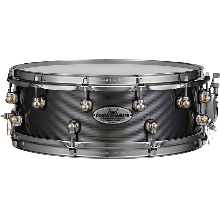 Pearl Dennis Chambers Milled Aluminum Snare Drum 14 x 5 in. Black Nickel
