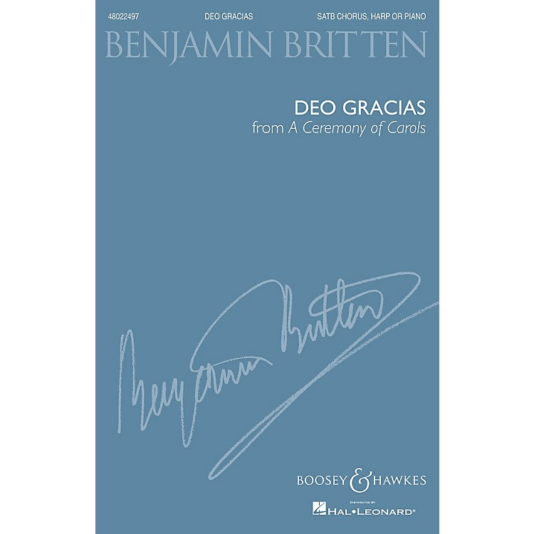 Boosey and HawkesDeo Gracias (from A Ceremony of Carols) (SATB and Harp or Piano) SATB composed by Benjamin Britten