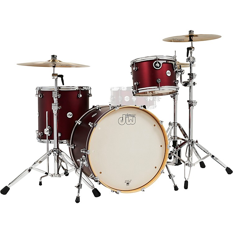 DW Design Series 3-Piece Shell Pack Crimson Satin Metallic